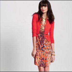 Cabi watercolor print shirt dress style 374